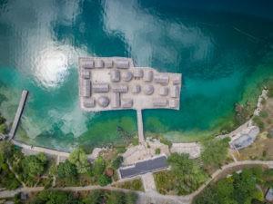 Blick von oben Bay of Bones Ohridsee